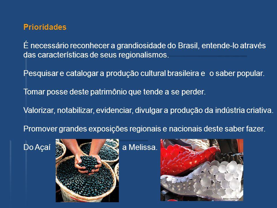 Prioridades É necessário reconhecer a grandiosidade do Brasil, entende-lo através. das características de seus regionalismos.
