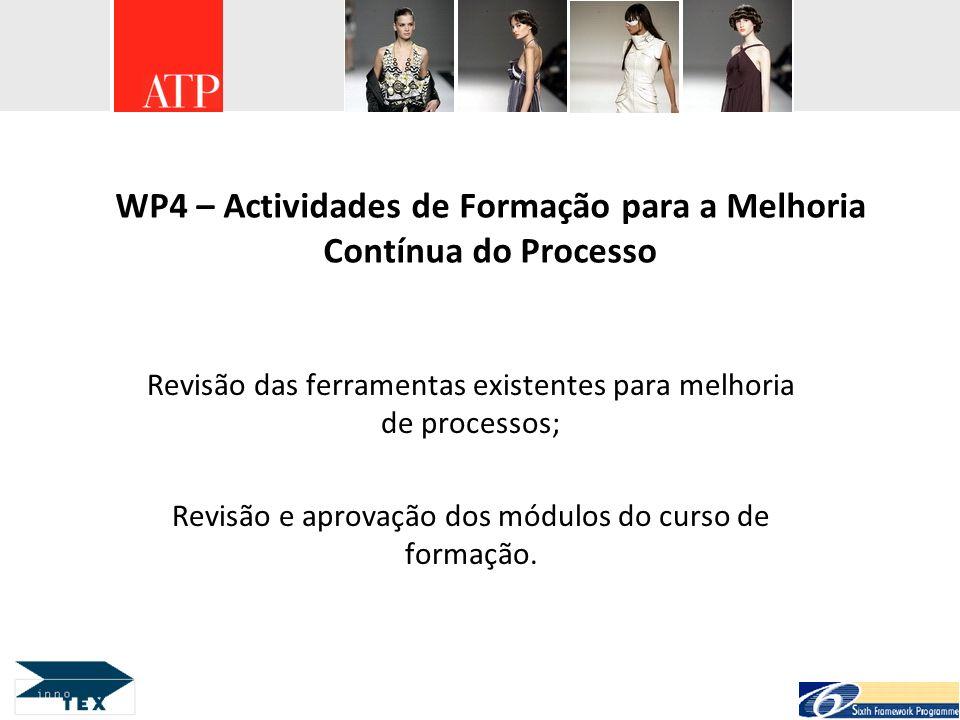 WP4 – Actividades de Formação para a Melhoria Contínua do Processo