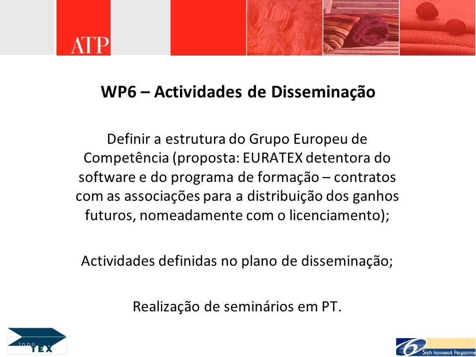 WP6 – Actividades de Disseminação