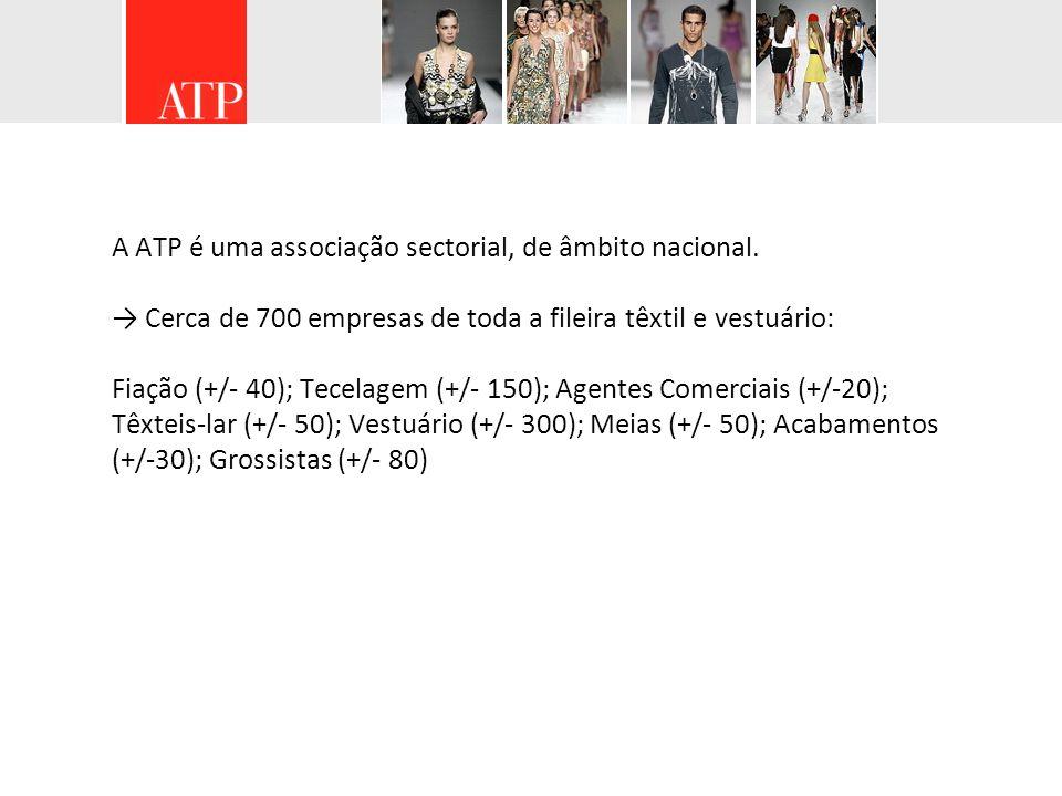 A ATP é uma associação sectorial, de âmbito nacional