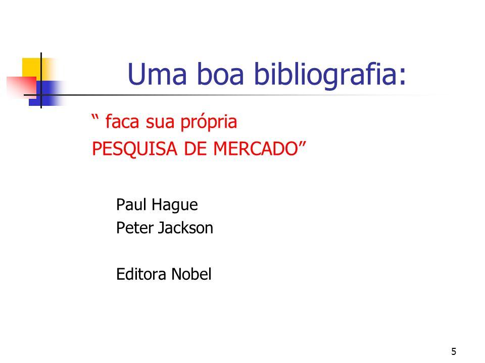 Uma boa bibliografia: faca sua própria PESQUISA DE MERCADO
