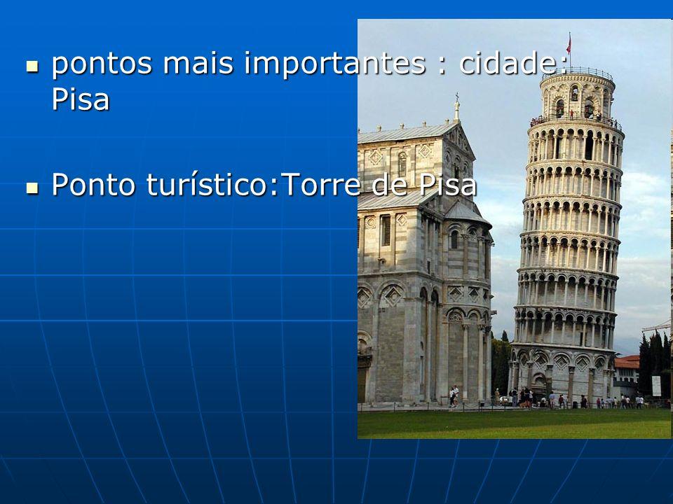 pontos mais importantes : cidade: Pisa