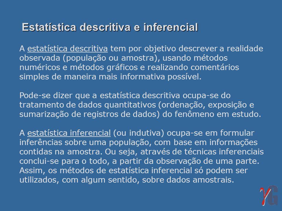 Estatística descritiva e inferencial