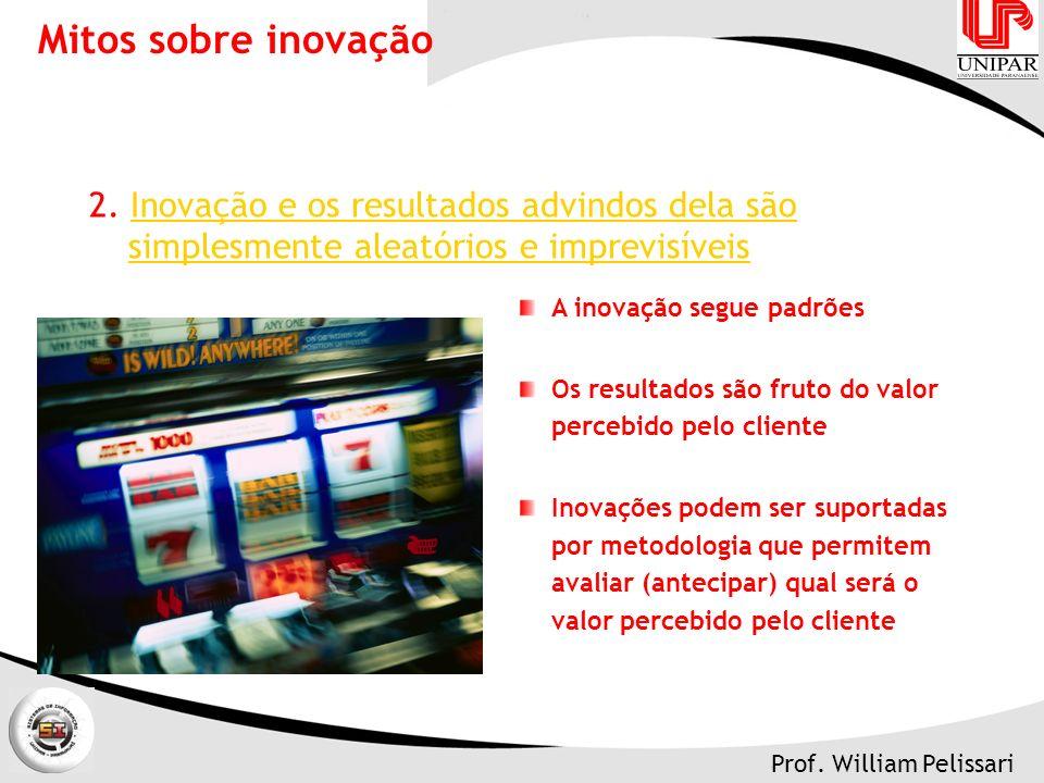 Mitos sobre inovação 2. Inovação e os resultados advindos dela são simplesmente aleatórios e imprevisíveis.