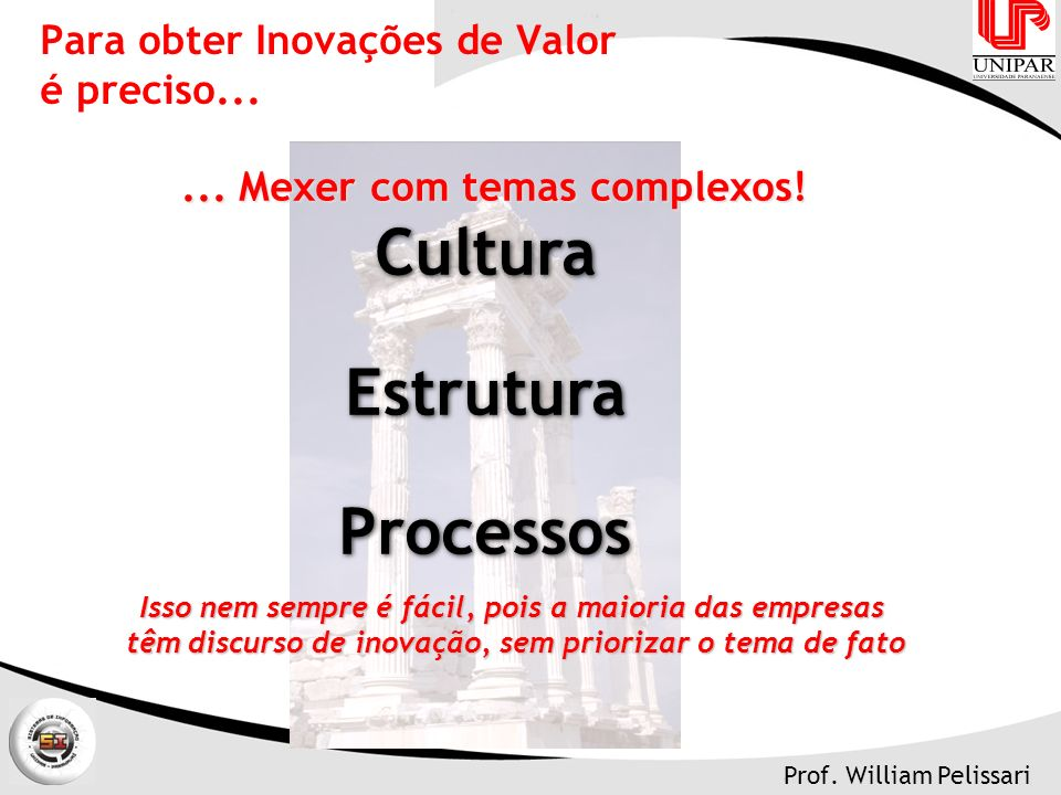 Para obter Inovações de Valor é preciso...