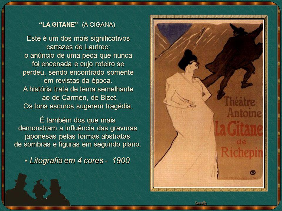 Este é um dos mais significativos cartazes de Lautrec: