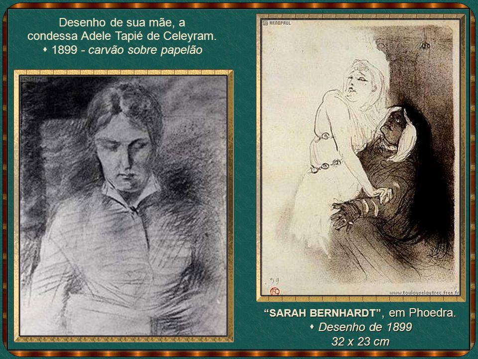condessa Adele Tapié de Celeyram. s 1899 - carvão sobre papelão