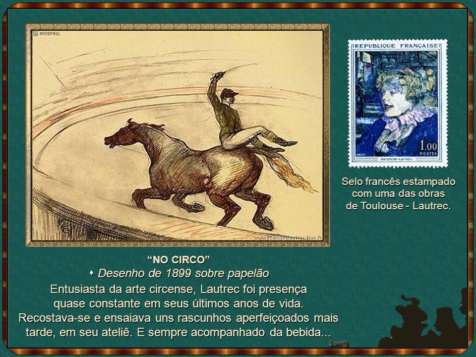 s Desenho de 1899 sobre papelão