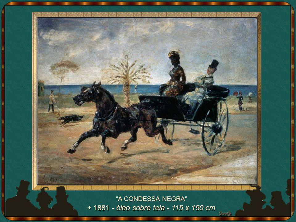 A CONDESSA NEGRA s 1881 - óleo sobre tela - 115 x 150 cm Soni@