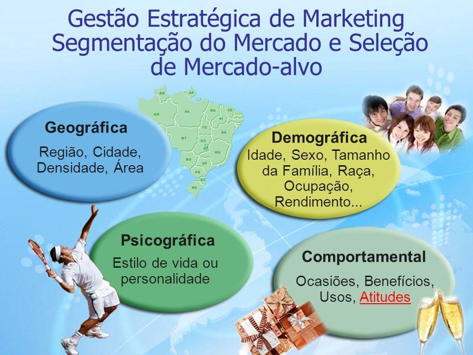Gestão Estratégica de Marketing Segmentação do Mercado e Seleção de Mercado-alvo
