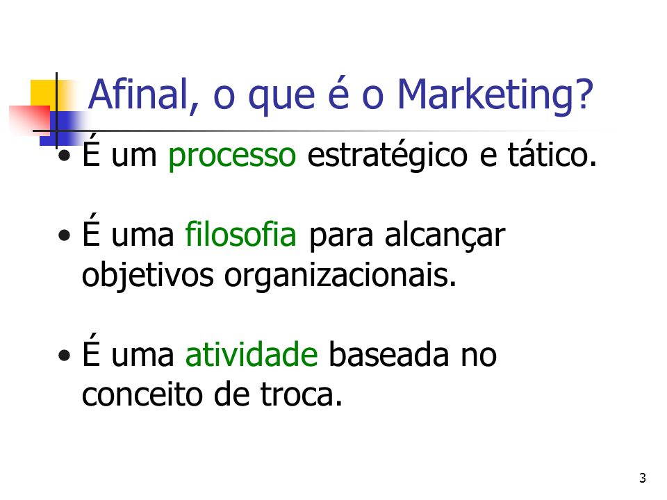 Afinal, o que é o Marketing