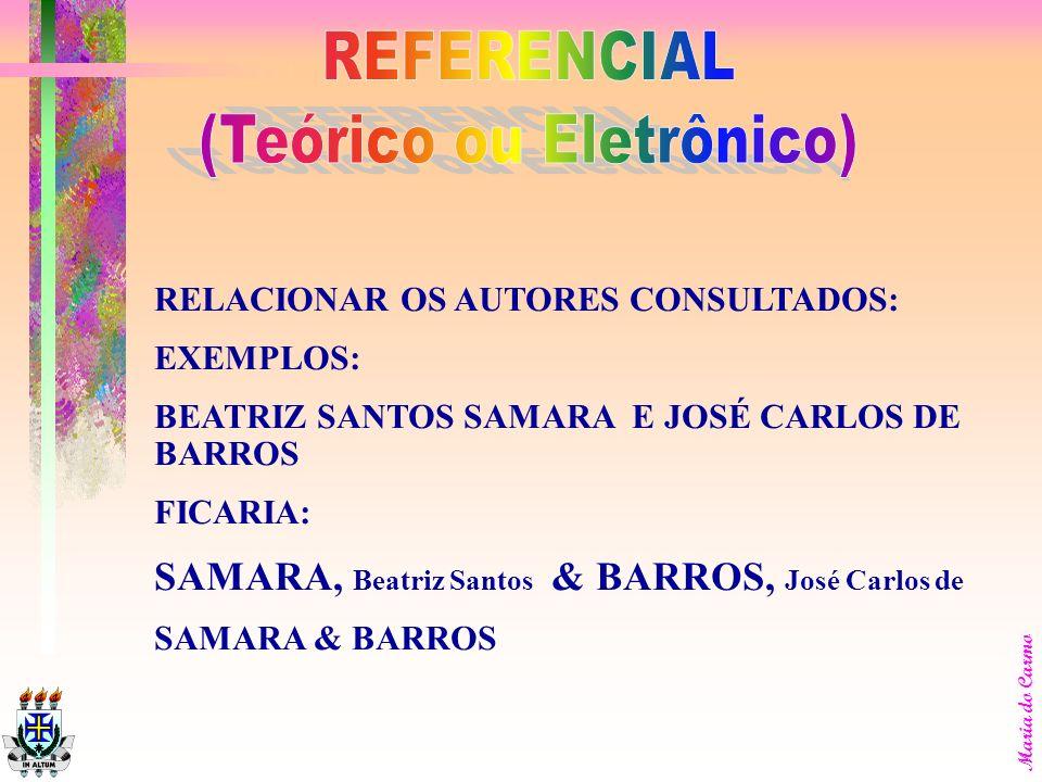 (Teórico ou Eletrônico)