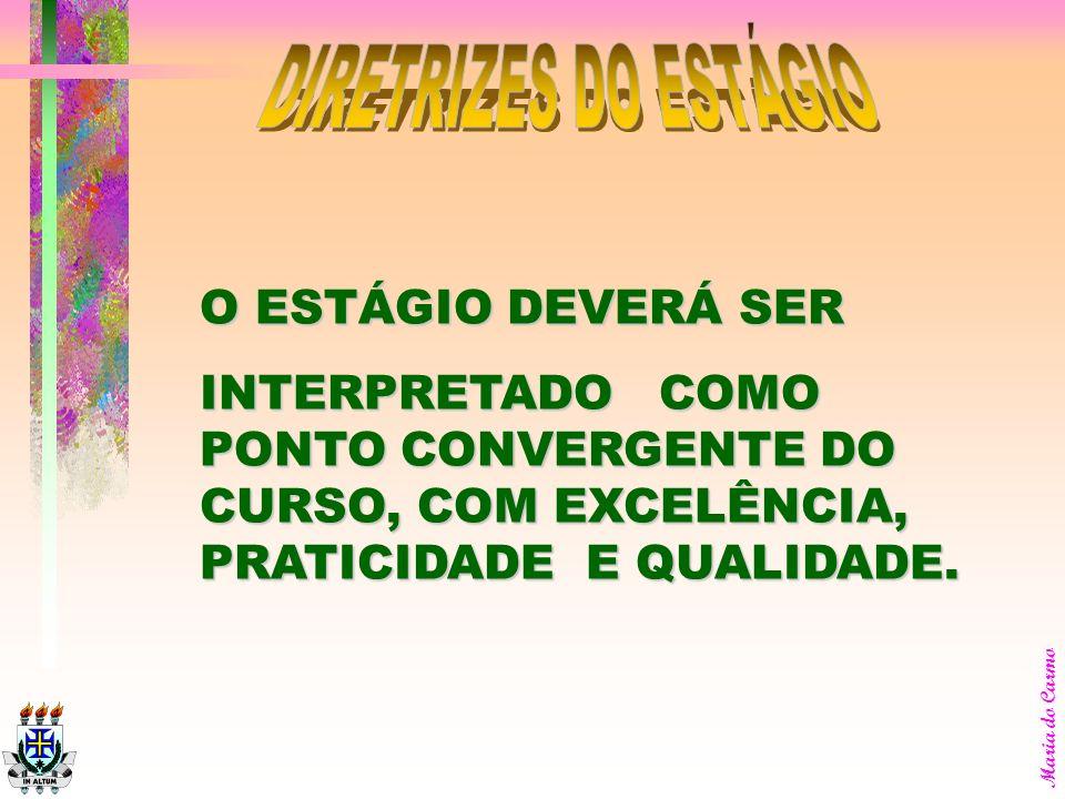 DIRETRIZES DO ESTÁGIO O ESTÁGIO DEVERÁ SER