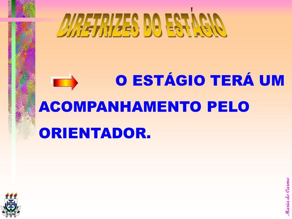 DIRETRIZES DO ESTÁGIO O ESTÁGIO TERÁ UM ACOMPANHAMENTO PELO ORIENTADOR.