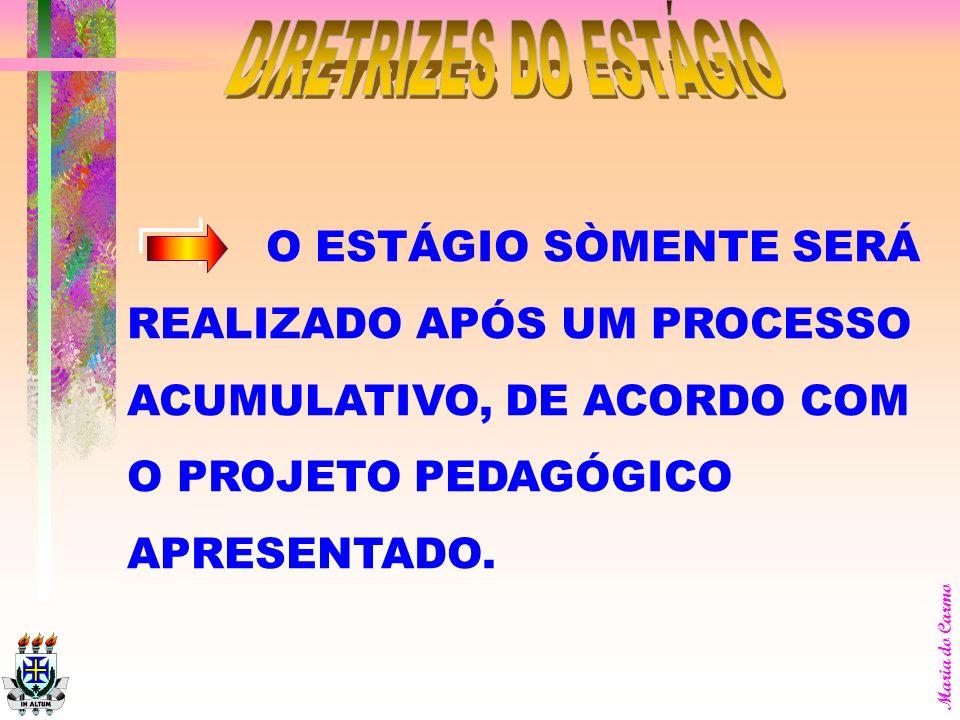 DIRETRIZES DO ESTÁGIO O ESTÁGIO SÒMENTE SERÁ
