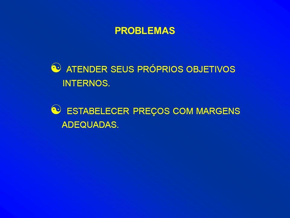 PROBLEMAS ATENDER SEUS PRÓPRIOS OBJETIVOS INTERNOS.