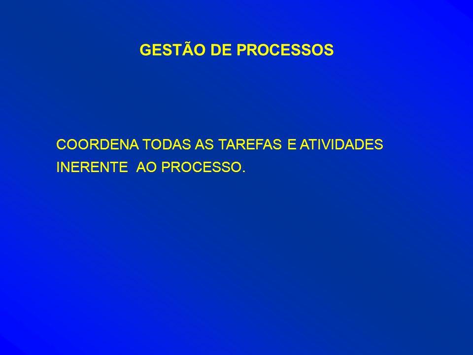 GESTÃO DE PROCESSOS COORDENA TODAS AS TAREFAS E ATIVIDADES