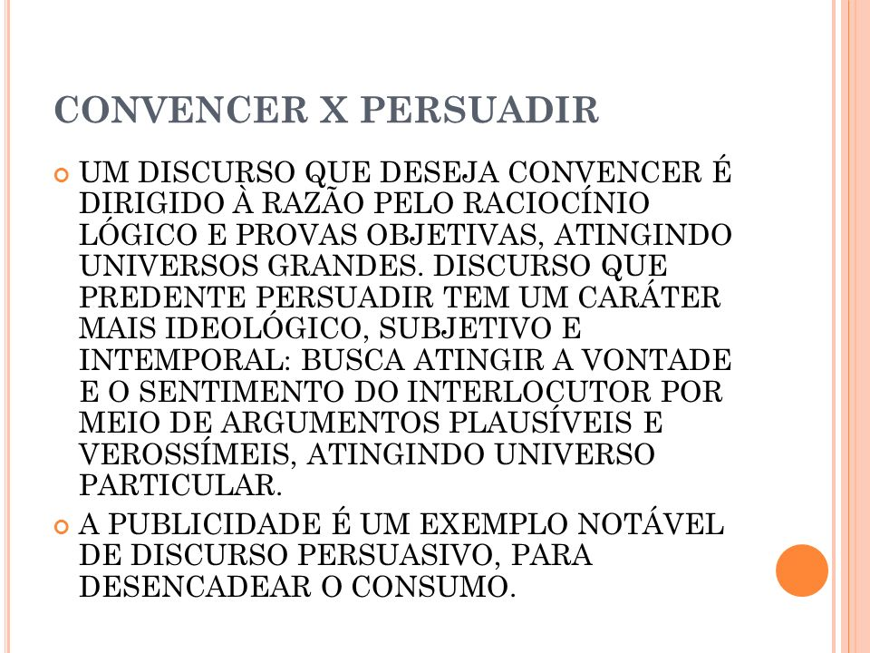 CONVENCER X PERSUADIR
