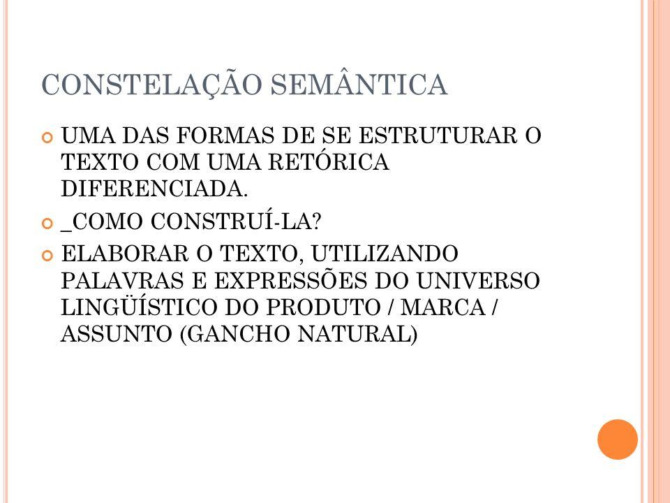 CONSTELAÇÃO SEMÂNTICA