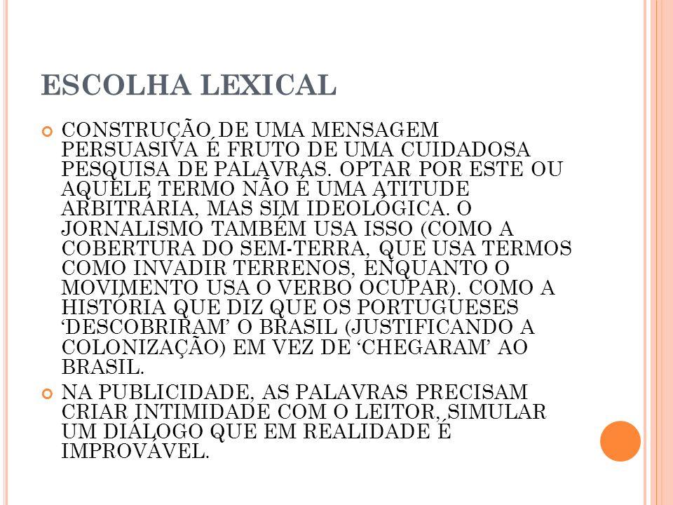 ESCOLHA LEXICAL