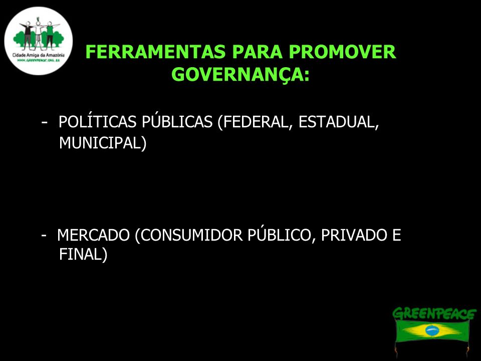 FERRAMENTAS PARA PROMOVER GOVERNANÇA: