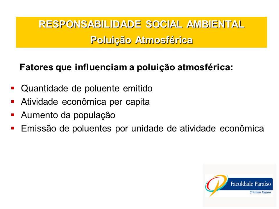 RESPONSABILIDADE SOCIAL AMBIENTAL Poluição Atmosférica