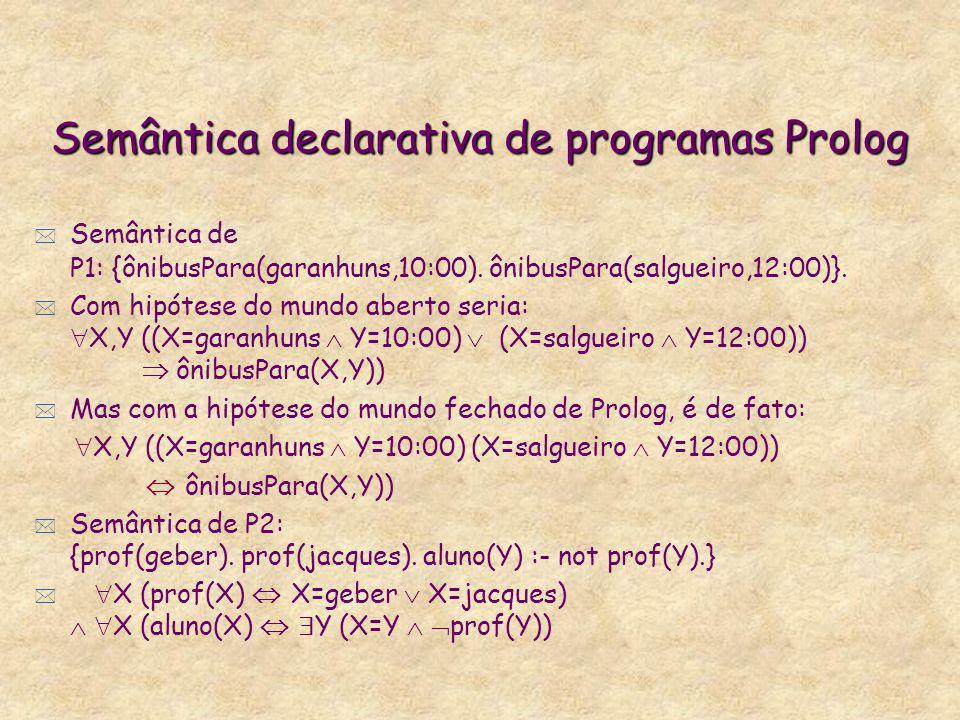 Semântica declarativa de programas Prolog