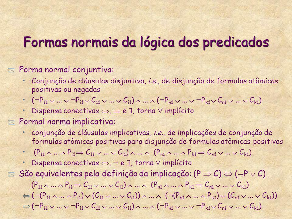 Formas normais da lógica dos predicados