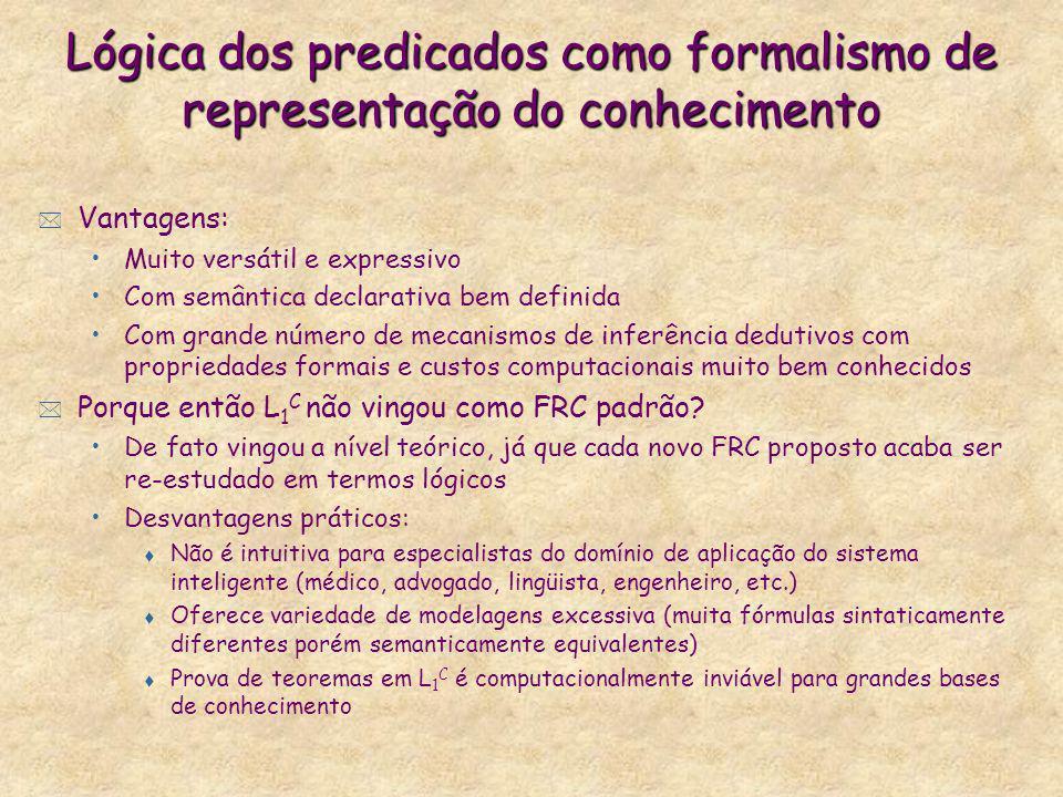 Lógica dos predicados como formalismo de representação do conhecimento
