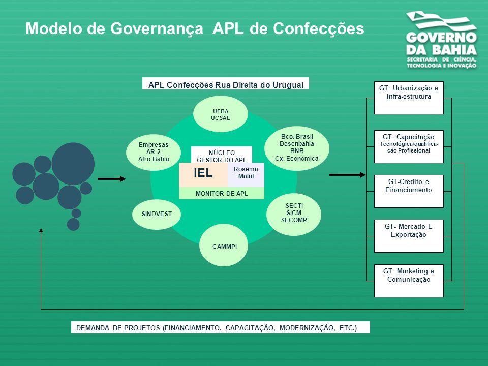 Modelo de Governança APL de Confecções
