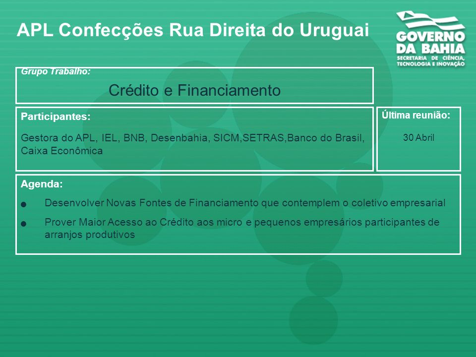 Crédito e Financiamento