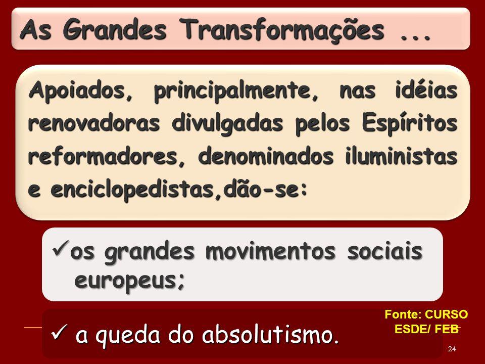 As Grandes Transformações ...