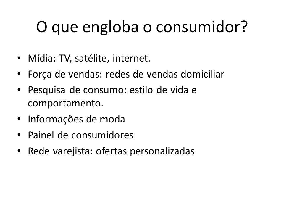O que engloba o consumidor