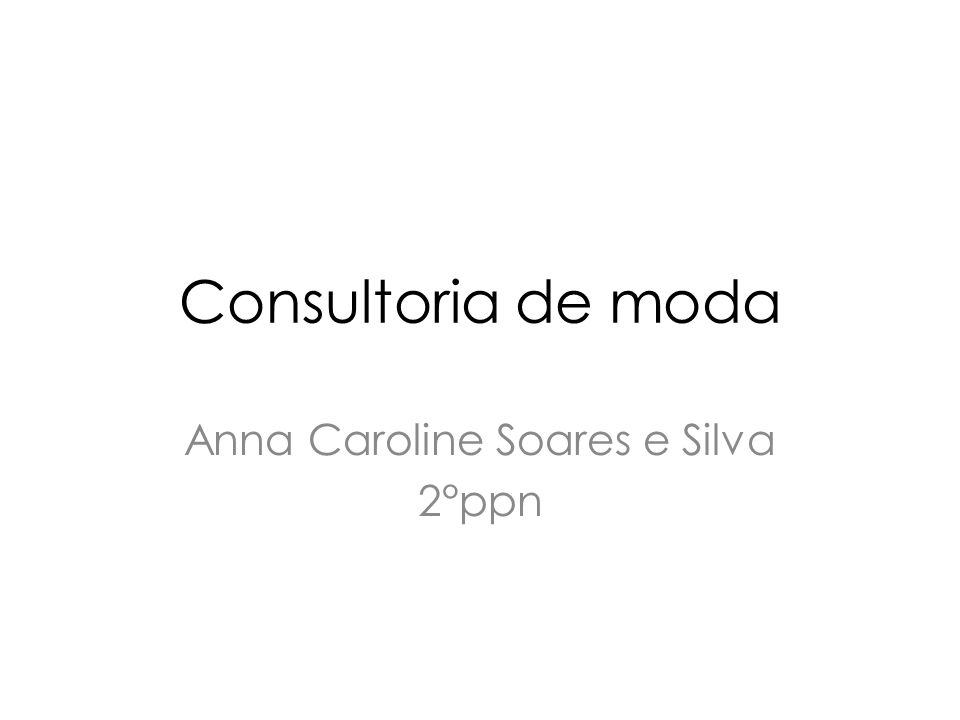 Anna Caroline Soares e Silva 2°ppn