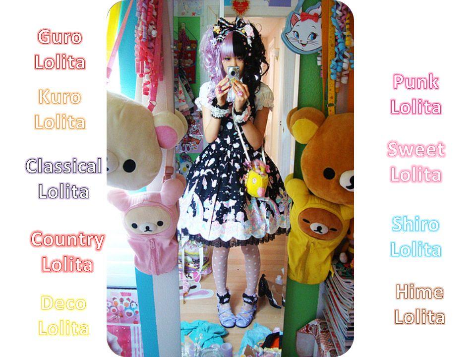Guro Lolita Punk Lolita. Kuro Lolita. Sweet Lolita. Classical Lolita. Shiro Lolita. Country Lolita.