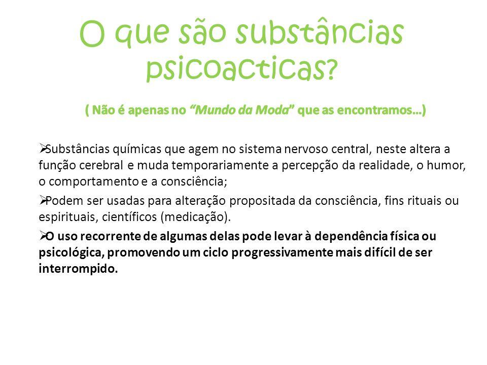 O que são substâncias psicoacticas