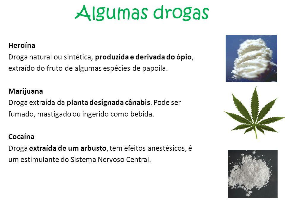 Algumas drogas Heroína