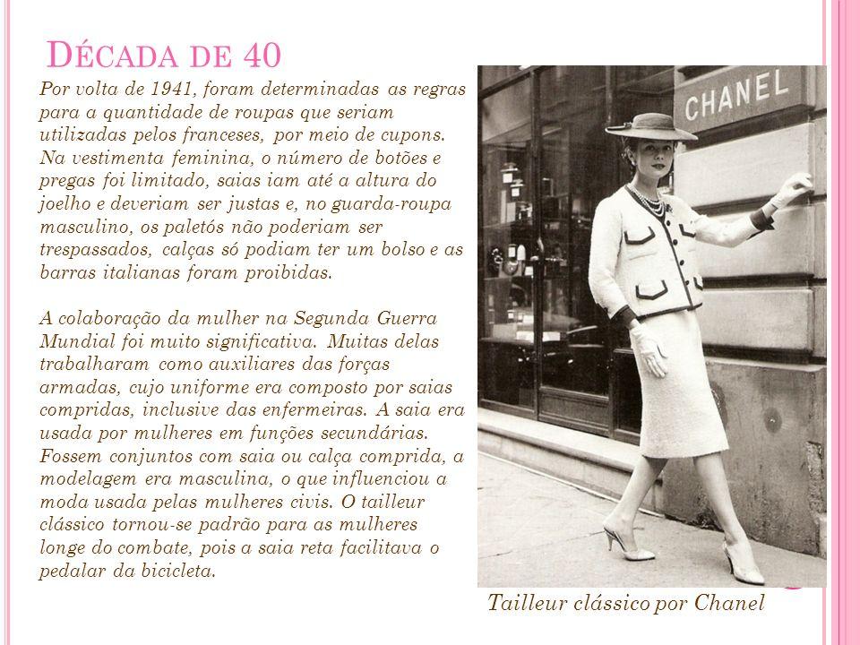 Década de 40 Tailleur clássico por Chanel