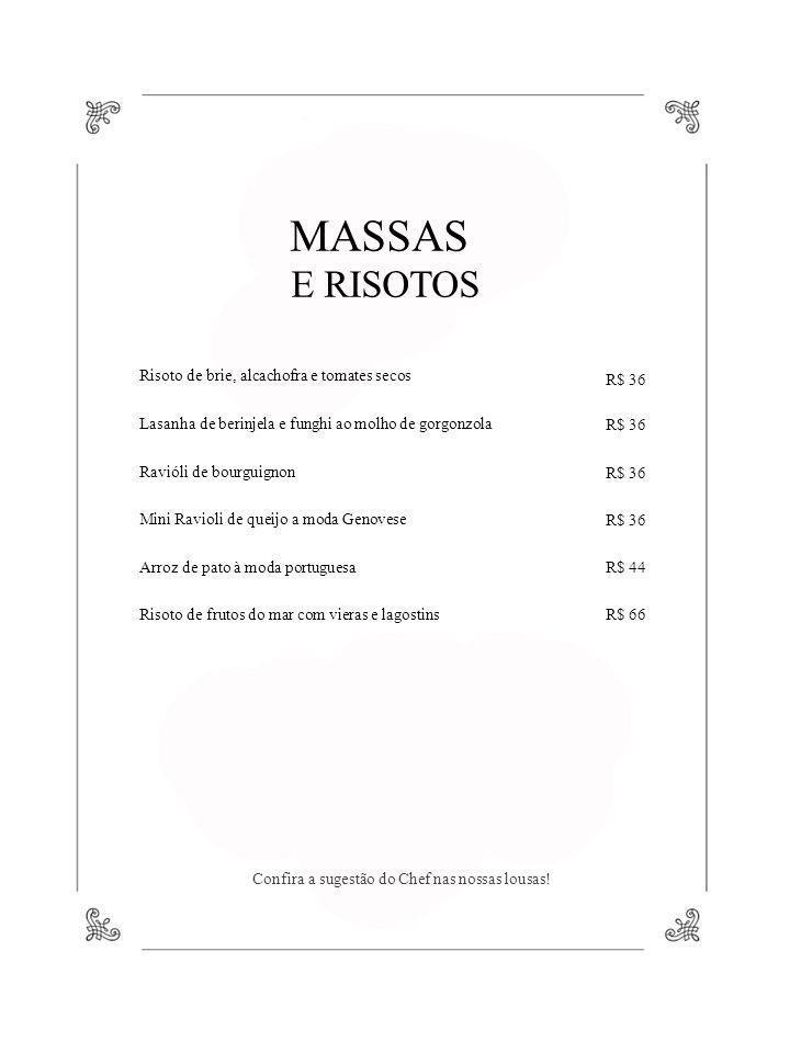MASSAS E RISOTOS Risoto de brie, alcachofra e tomates secos