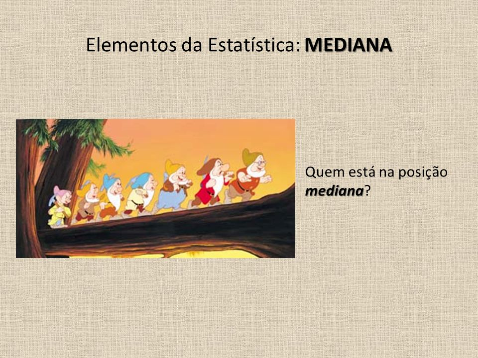 Elementos da Estatística: MEDIANA