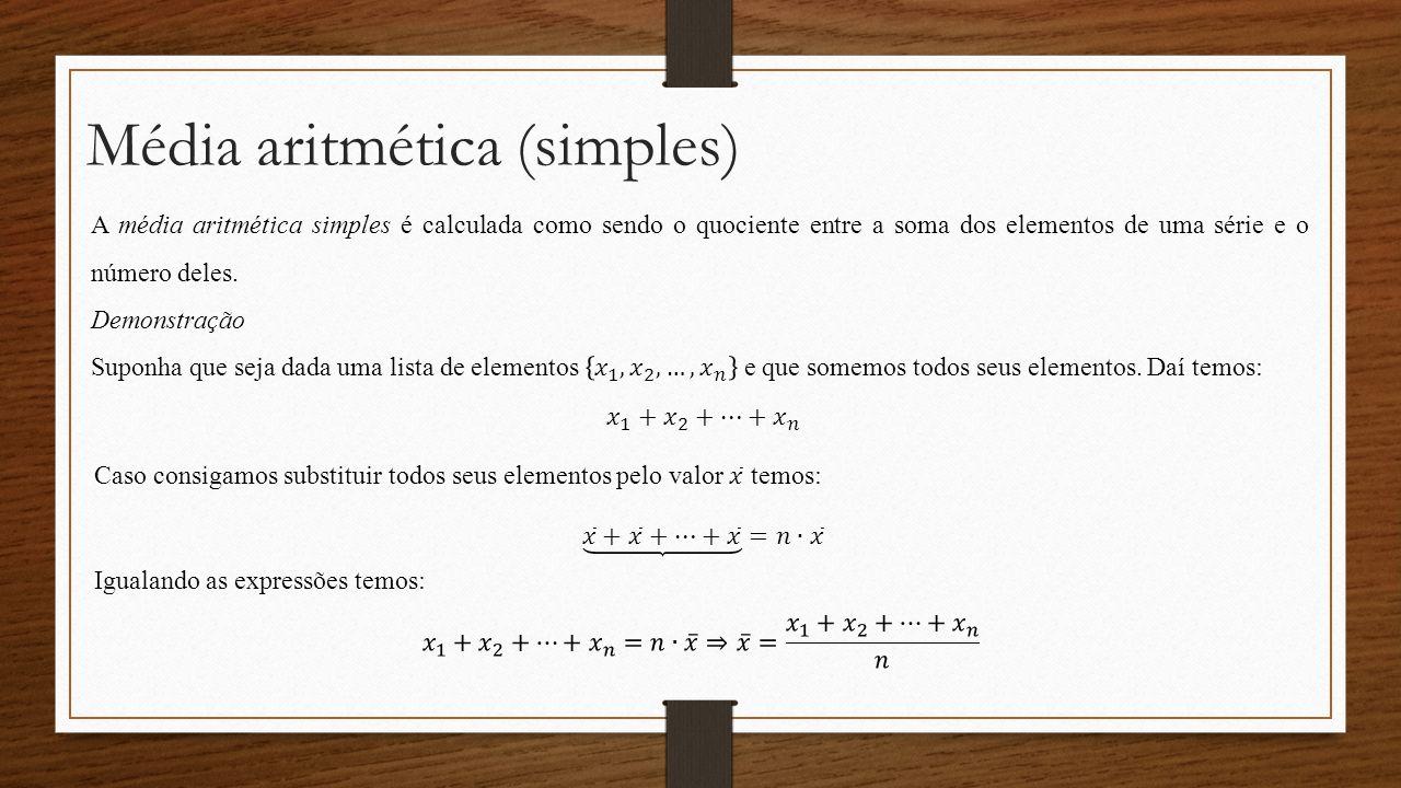 Média aritmética (simples)