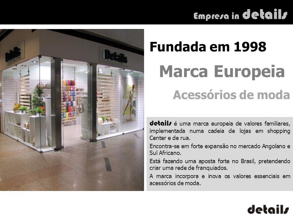 Fundada em 1998 Marca Europeia Acessórios de moda