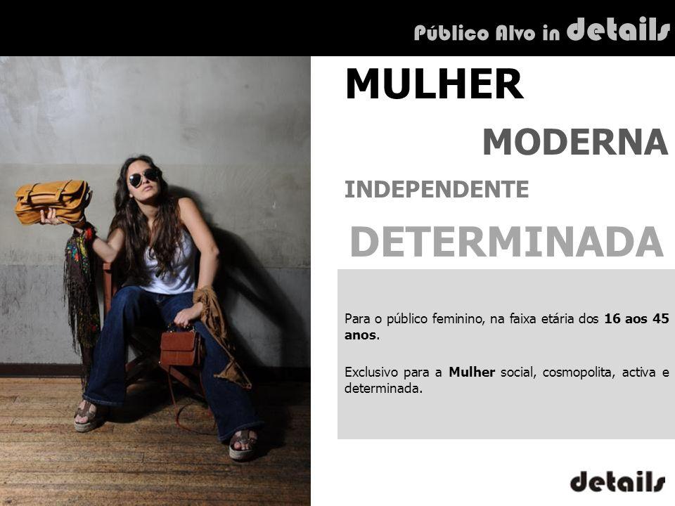 MULHER DETERMINADA MODERNA INDEPENDENTE Público Alvo in details