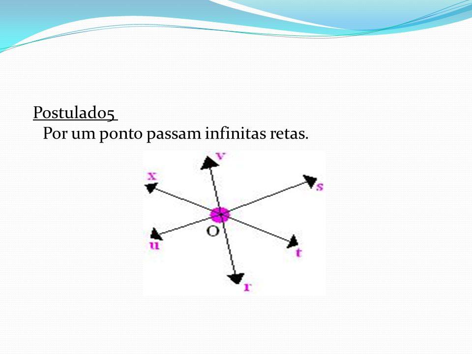 Postulado5 Por um ponto passam infinitas retas.