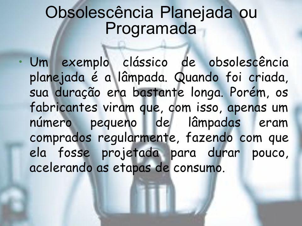 Obsolescência Planejada ou Programada