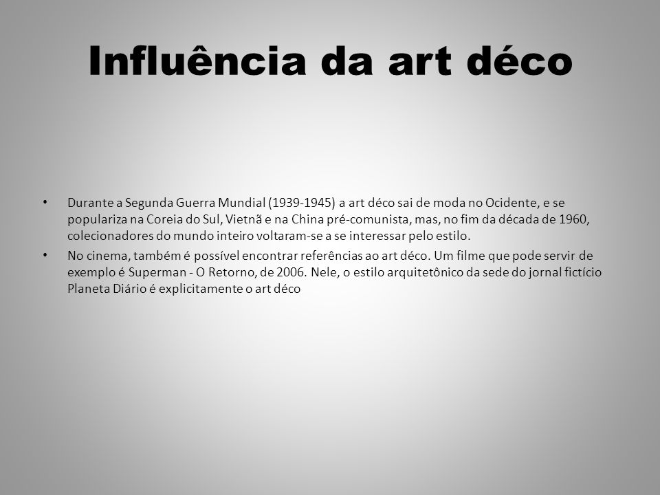 Influência da art déco