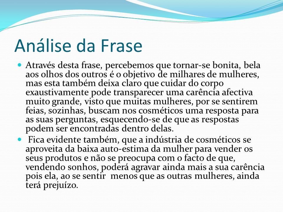 Análise da Frase