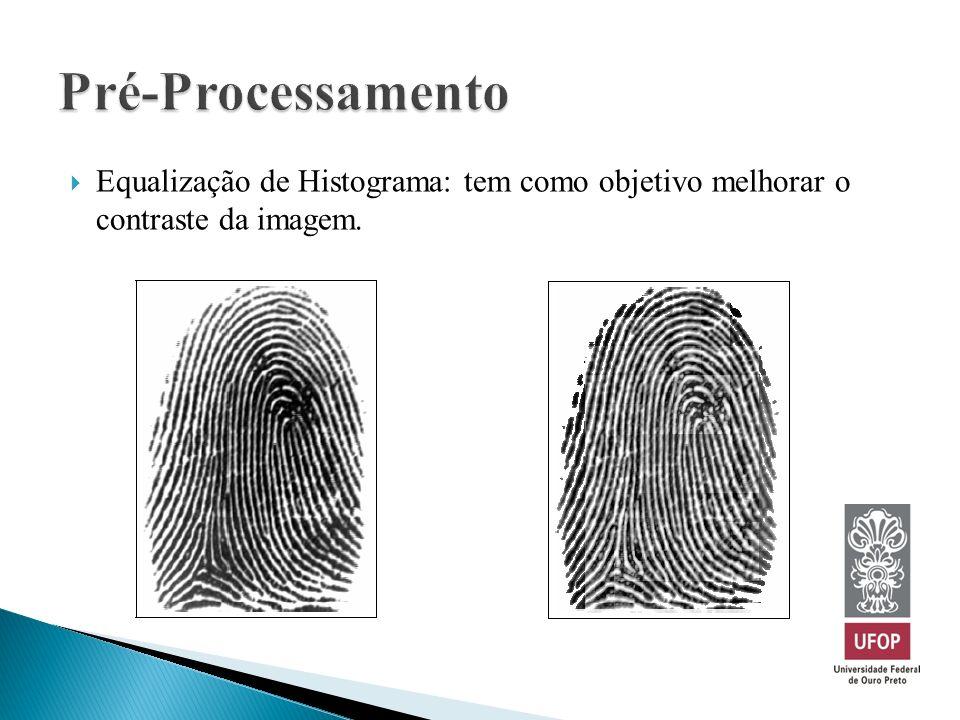 Pré-Processamento Equalização de Histograma: tem como objetivo melhorar o contraste da imagem.