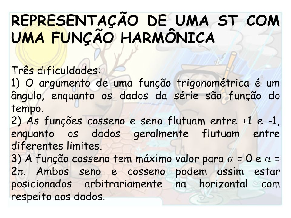 REPRESENTAÇÃO DE UMA ST COM UMA FUNÇÃO HARMÔNICA