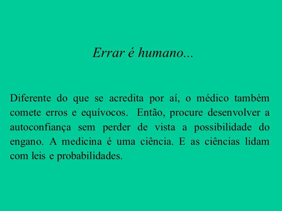 Errar é humano...